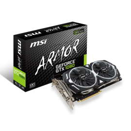 MSI GTX 1080 ARMOR 8GB OC Graphic Card