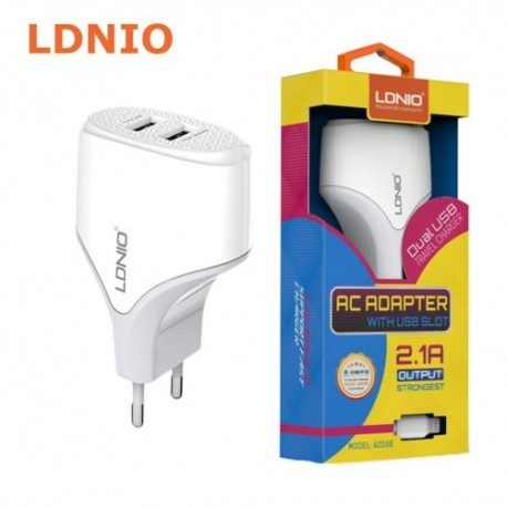LDNIO Dual USB Travel Charger 2.1A A2268